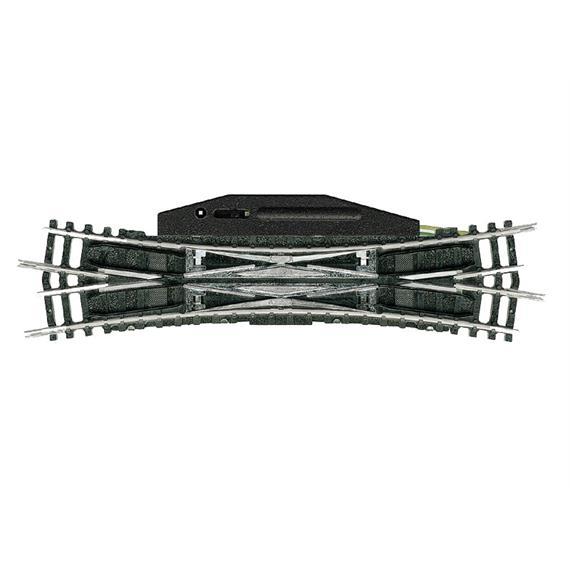 Minitrix 14960 Elektromagnetische Doppel- Kreuzungsweiche - 15°, R4, N