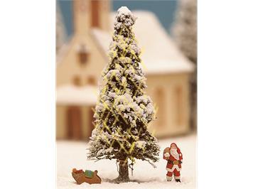 Noch 11912 weisse Weihnacht mit beleuchtetem Weihnachtsbaum HO