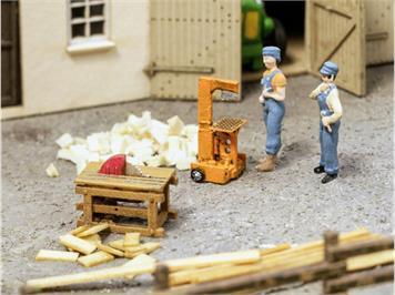 Noch 13726 3D minis Holzspalter und Kreissäge HO
