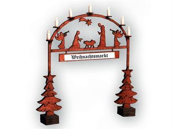 Noch 14681 Laser-Cut Weihnachtsmarkt - Eingangsbogen N