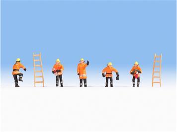 Noch 36022 Feuerwehr (orange Schutzanzüge) N