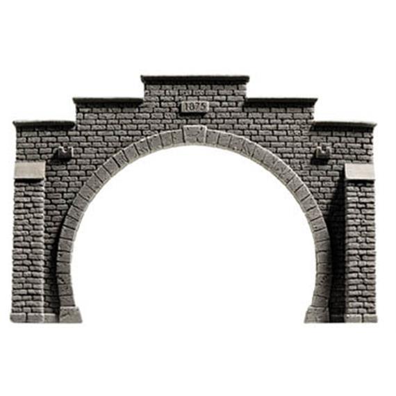 NOCH 58052 Tunnel-Portal 2-gleisig PROFI-plus HO