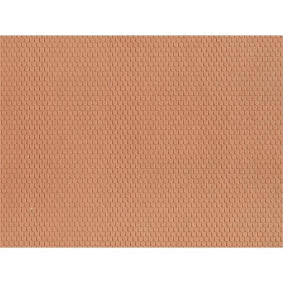 Noch 60360 Strukturfolie Biberschwanz rot