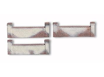 NOCH Kirchmauer, 3 Stück, je 3,3 x 12 cm Spur H0