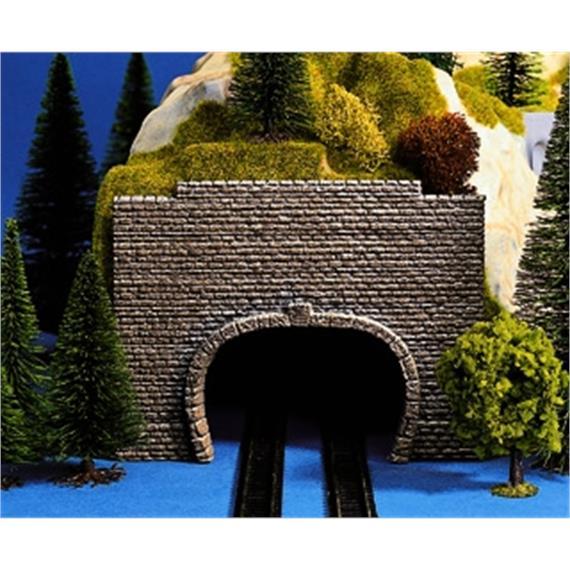 NOCH Vorsatz-Portal, 2-gleisig, 2 Stück, 14 x 10,5 cm Spur N