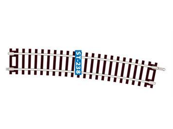 Peco ST-238 Gleis gebogen 1/32 Ausgl.Bogen Y-Weiche 11,25° Cd. 100