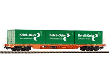 "PIKO 54685 SBB Tragwagen Sgnss mit 3 Containern ""Kehrli + Oeler"" HO"