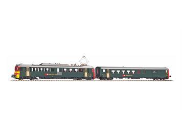 PIKO 94161 SBB RBe 4/4 Seetal Triebwagen + BDt grün/rot N