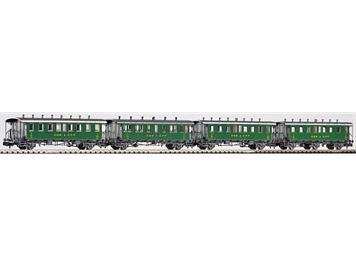 PIKO 94345 SBB Oldtimerwagen-Set 4-teilig , Ep. II Spur N