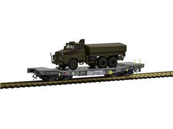 PIKO 96686 SBB Panzertransportwagen Simmnps mit Henschel HO