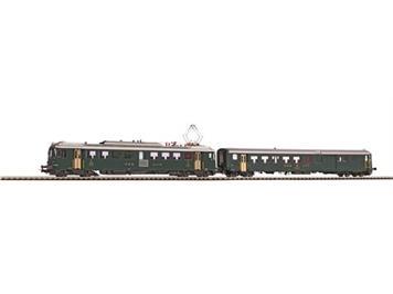 PIKO 96849 SBB Triebwagen RBe 1406 + BDt grün alte Schrift DC digital mit Sound