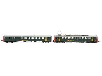 PIKO 96853 SBB RBe 4/4 1447 + BDt EWII mit roter Strinfront, AC digital mit Sound mfx