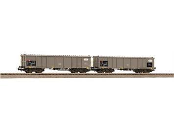 PIKO 97300 SBB 2 Hochbordwagen Eaos grau, beladen mit Holz, Ep.V-VI, H0