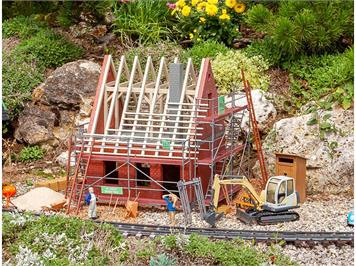 POLA 331055 Baustellengerüst mit Zubehör, Bausatz, Spur G IIm (1:22,5)