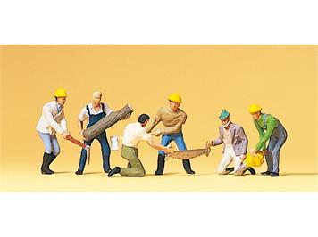 Preiser 10042 Waldarbeiter HO