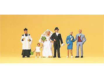 Preiser 10058 Brautpaar, kath. Pfarrer