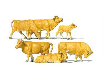 Preiser 10147 Kühe hellbraun HO