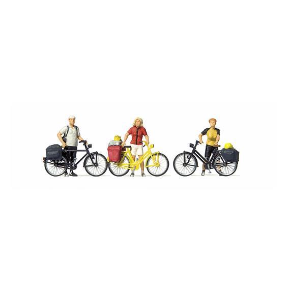 Preiser 10643 stehende Radfahrer in sportlicher Kleidung