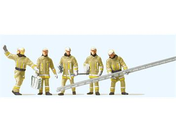Preiser 10770 Feuerwehrmänner. Uniformfarbe, beige