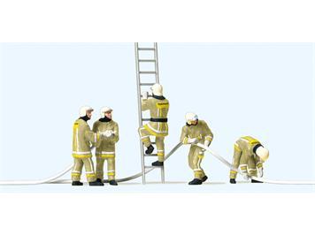 Preiser 10771 Feuerwehrmänner. Uniformfarbe, beige