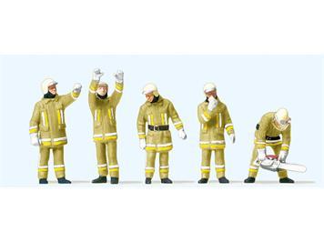 Preiser 10772 Feuerwehrmänne. Uniformfarbe, beige techn.