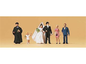 Preiser 79057 Brautpaar, evangelischer Geistlicher