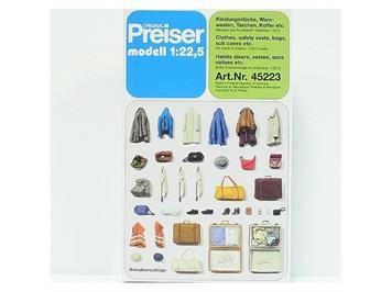 Preiser Kleidungsstücke, Warmwesten, Taschen etc. 1:22,5