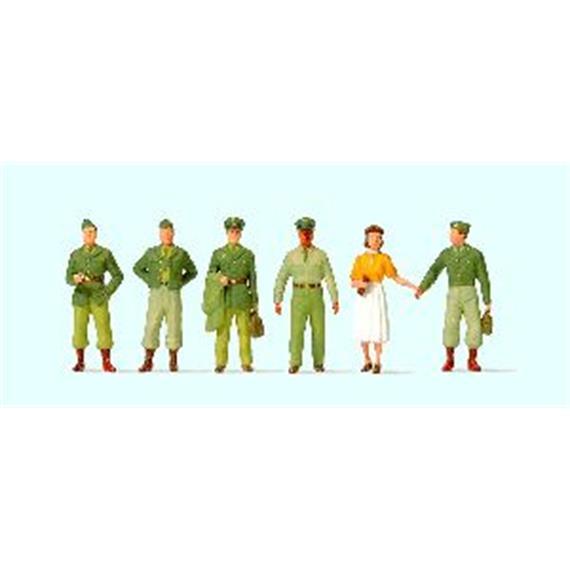 Preiser US-Soldaten fünfziger Jahre HO