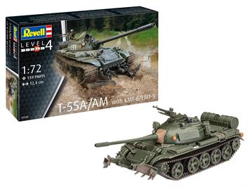 Revell 03328 T-55A/AM with KMT-6/EMT-5, Massstab 1:72