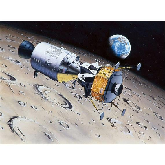 Revell 03700 Apollo 11 Columbia & Eagle (50 Years Moon Landing) 1:96