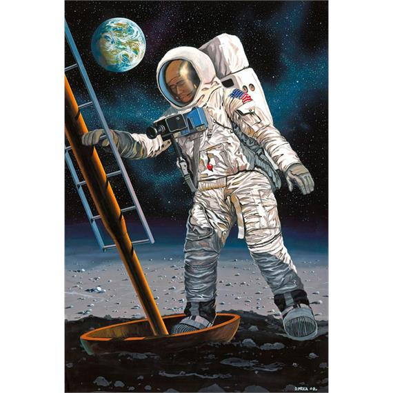 Revell 03702 Apollo 11 Astronaut on the Moon (50Y. Moon Landing) 1:8