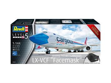 "Revell 03836 Boeing 747-8F CARGOLUX LX-VCF ""Facemask"", 1:144"