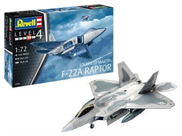 Revell 03858 Lockheed Martin F-22A Raptor, 1:72