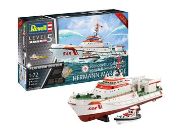 Revell 05198 Platinum Edition Search & Rescue Vessel HERMANN MARWEDE, Maßstab 1:72