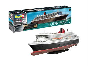 Revell 05199 Queen Mary 2 PLATINUM Edition, 1:400