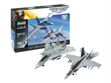Revell 05677 Gift Set Top Gun 2 Movie Set, 1:72