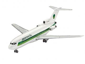 Revell 63946 Modell Set Boeing 727-100 Germania 1:144 mit Farben, Leim und Pinsel