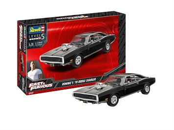 Revell 67693 Model Set Fast & Furious - Dominics 1970 Dodge Charger, Maßstab 1:25