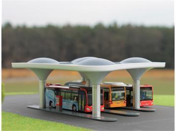 Rietze 70510 Busstation (Fertigmodell) HO