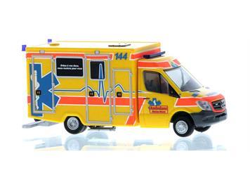 """Ritze 61713 Mercedes-Benz Sprinter RTW Wietmarscher """"Rettungsdienst Murten"""" (CH), H0"""
