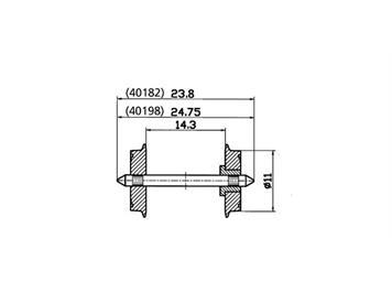 Roco 40198 DC-NEM-Normradsatz 11mm, 2 Stück, H0