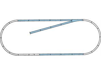 Roco 42010 ROCO LINE Gleisset B (Gleise mit Bettung), H0
