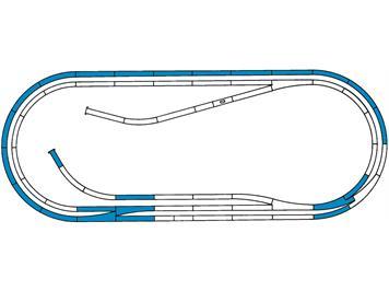 Roco 42012 ROCO LINE Gleisset D (Gleise mit Bettung), H0