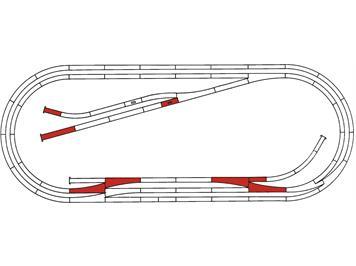 Roco 42013 Gleisset E Roco Line mit Gummibettung, H0
