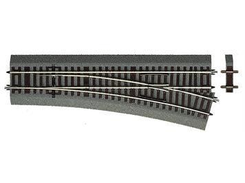 Roco 42533 Weiche rechts Wr15 für Handbetrieb, mit Bettung, H0