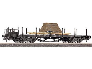Roco 47223 DB Flachwagen m. Dieselmotor/Plane