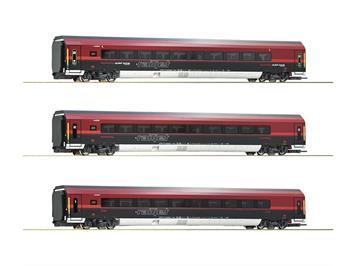 Roco 74087 3-tlg. Set: Railjet, ÖBB, Ausführung mit Zonenbeschriftung