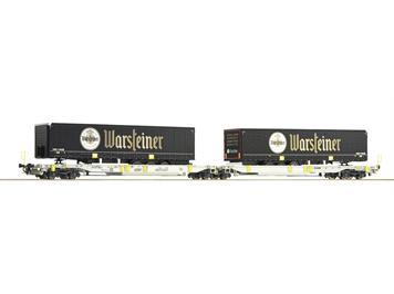 """Roco 76436 Doppeltaschen-Gelenkwagen, AAE """"Warsteiner"""""""
