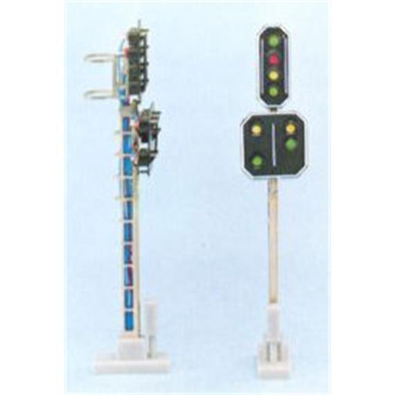 Schneider 2206 SBB Hauptsignal m. Vorsignal 8 LED 72mm
