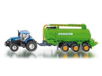 SIKU Traktor mit Fasswagen
